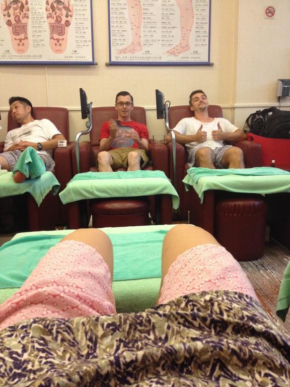 Čínská masáž chodidel