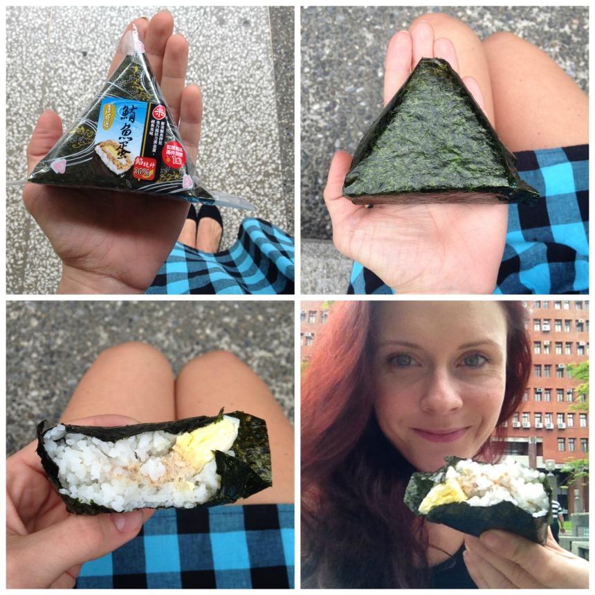 Rice triangle s tuňákem a vajíčkem