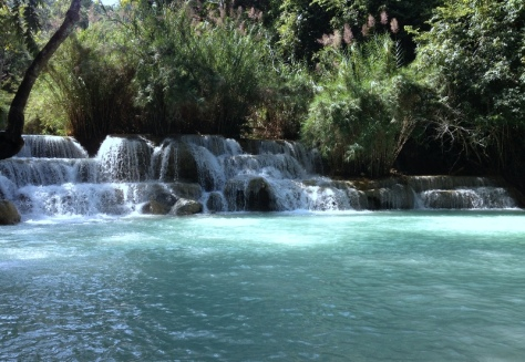 Laos, vodopády Kuang Si