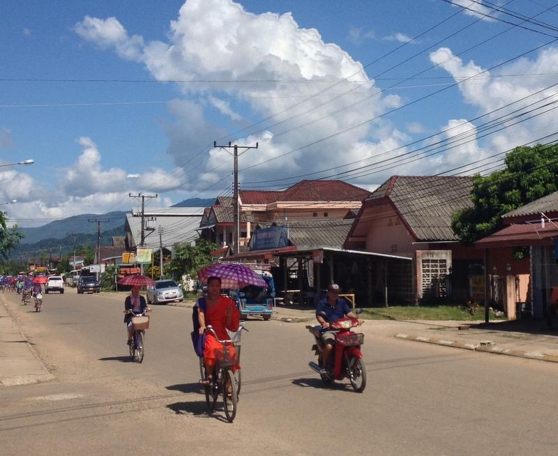 Tří-ulicový Vang Vieng