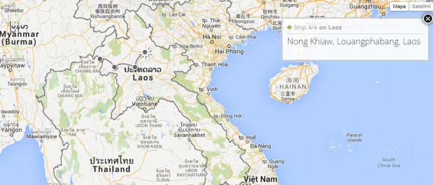 Laos: Huay Xai - po Mekongu: Pak Beng, Luang Prabang a konečně: Nong Khiaw