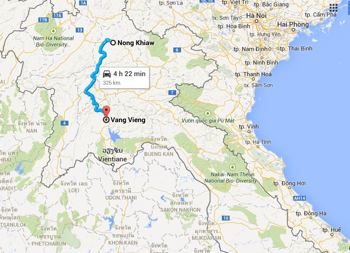 Z Nong Khiaw to Vang Vieng