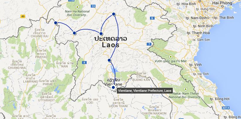 Naše laoské eskapády - poslední skok z Vang Vieng do Vietiane